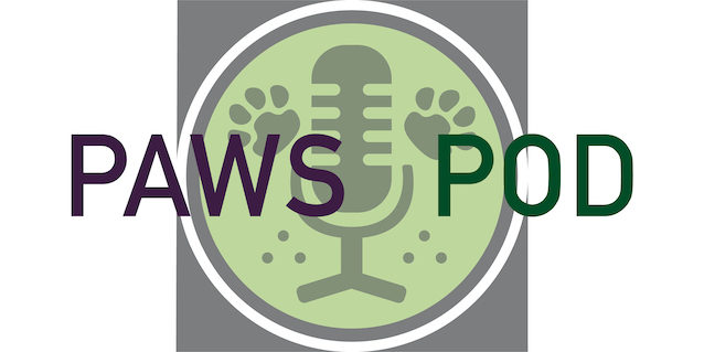 Logo for Paws for Thought Podcast